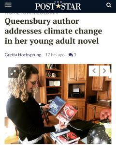 Author addresses climate change in YA novel