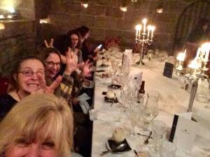 dinner in the dungeon, Dalhousie Castle